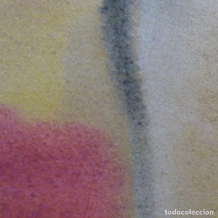Arte: Tecnica mixta sobre cartulina anonimo.abstracto.tonos suaves. - Foto 8 - 199762556