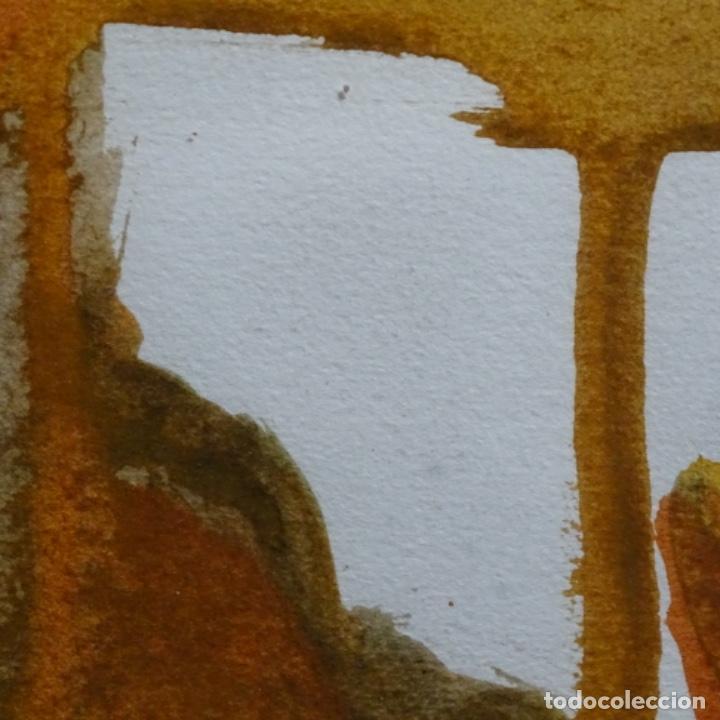 Arte: Tecnica mixta sobre cartulina anonimo.abstracto.tonos suaves. - Foto 9 - 199762556