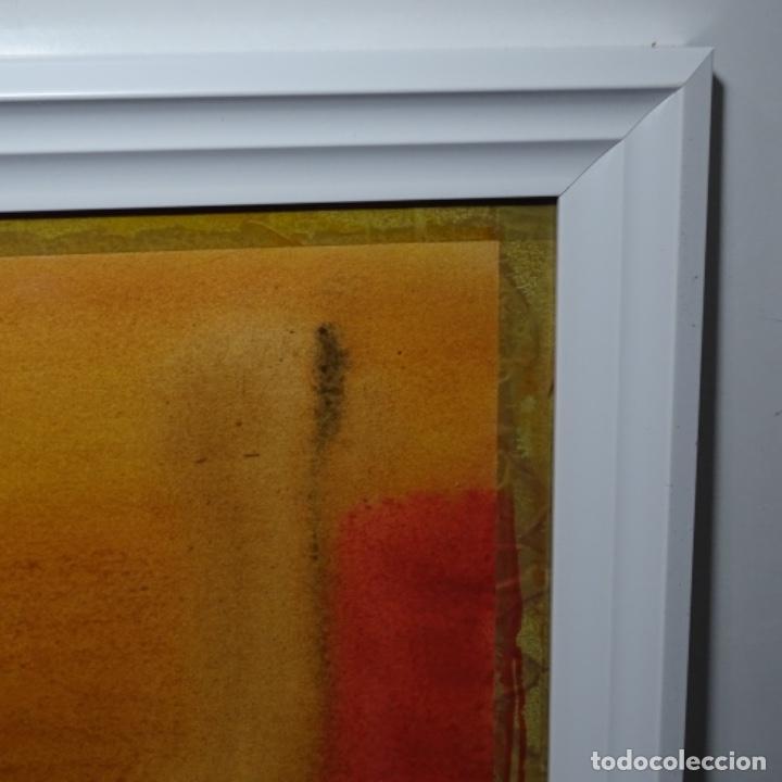 Arte: Tecnica mixta sobre cartulina anonimo.abstracto.tonos suaves. - Foto 10 - 199762556