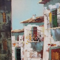 Arte: CALLE .ESCUELA ESPAÑOLA SXX.ELVIO.. Lote 199770805
