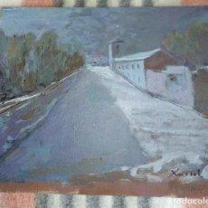 Arte: OLEO SOBRE TABLA CASTELLAR JAÉN XAVIOT. Lote 199830187