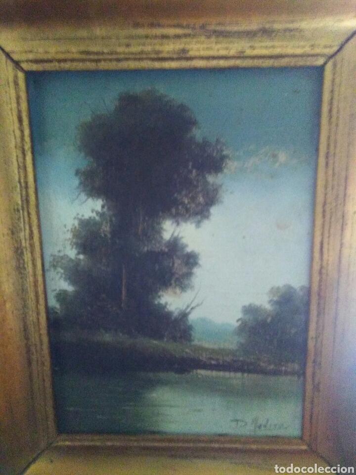 Arte: Pareja de pinturas oleos sobre carton ,bonitos paisajes principio de siglo XX firmados medina - Foto 4 - 199834732