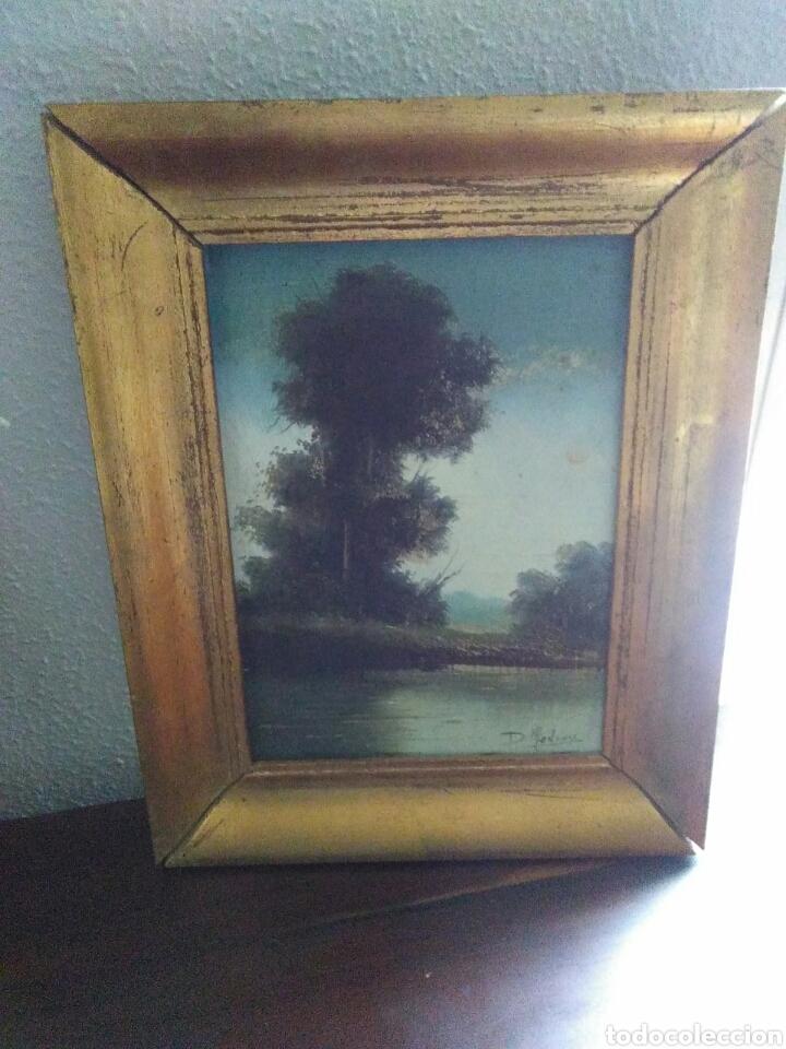 Arte: Pareja de pinturas oleos sobre carton ,bonitos paisajes principio de siglo XX firmados medina - Foto 7 - 199834732