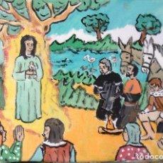 Arte: ROCÍO.-LOS ALMONTEÑOS ENCUENTRAN A LA VIRGEN,ÓLEO LIENZO 29,7X42 CM. AUTOR CRESPO. Lote 199891487