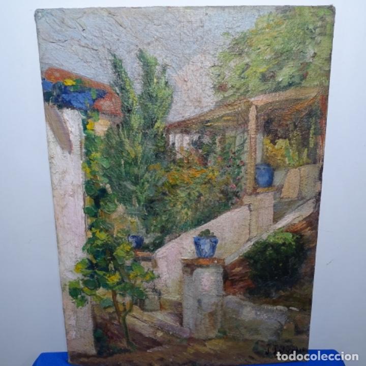 ÓLEO SOBRE TABLEX FIRMADO J. SALVADOR.BUEN TRAZO. (Arte - Pintura - Pintura al Óleo Contemporánea )