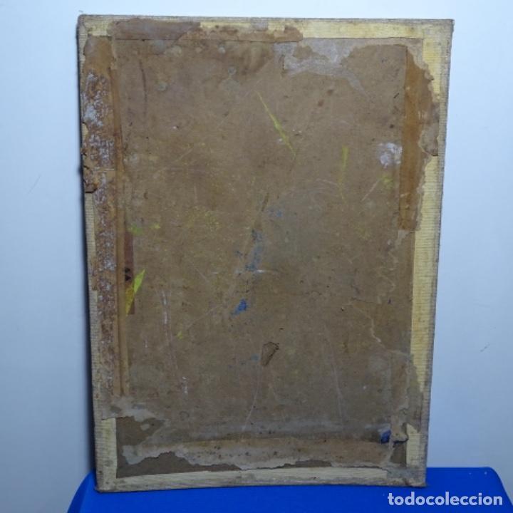 Arte: Óleo sobre tablex firmado J. Salvador.buen trazo. - Foto 16 - 199909163