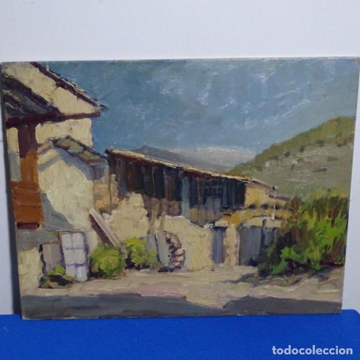 Arte: Excelente óleo anónimo sobre tabla circulo mir.buen trazo.maestro. - Foto 2 - 199977837