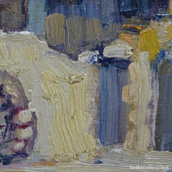 Arte: Excelente óleo anónimo sobre tabla circulo mir.buen trazo.maestro. - Foto 10 - 199977837