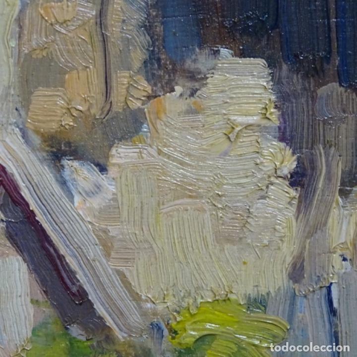 Arte: Excelente óleo anónimo sobre tabla circulo mir.buen trazo.maestro. - Foto 12 - 199977837
