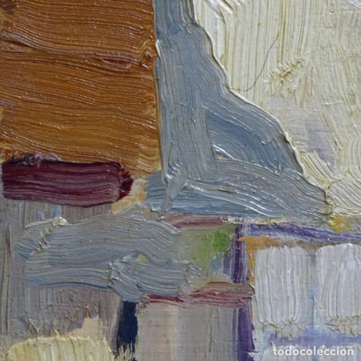 Arte: Excelente óleo anónimo sobre tabla circulo mir.buen trazo.maestro. - Foto 16 - 199977837