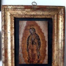 Arte: PEQUEÑA VIRGEN DE GUADALUPE.ÓLEO ESCUELA MEJICANA SIGLO XVII-XVIII. Lote 199996926