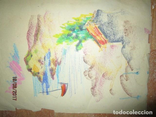 Arte: ANTIGUO DIBUJO AL PASTEL MARINA CON BARCAS AÑOS 30 MEDIDAS 45 X 30 CMS - Foto 2 - 200003961
