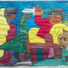 Arte: ANTONI MARTÍ (SEUDÓNIMO) - CASSERRES, 1.960 - TÉCNICA MIXTA SOBRE PAPEL 30 X 21 - FIRMADO. Lote 53713644