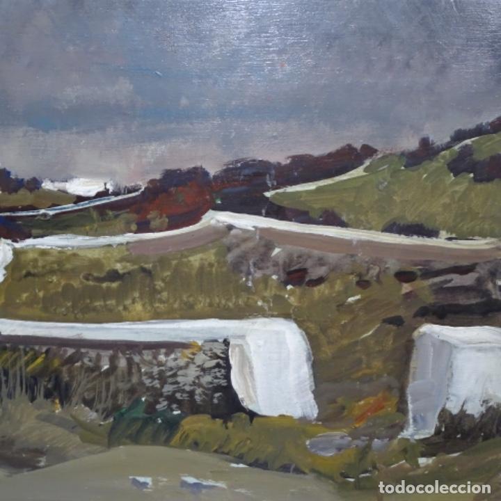 Arte: óleo sobre tabla de Ramon marti cebollero.excelente trazo. - Foto 3 - 200073215