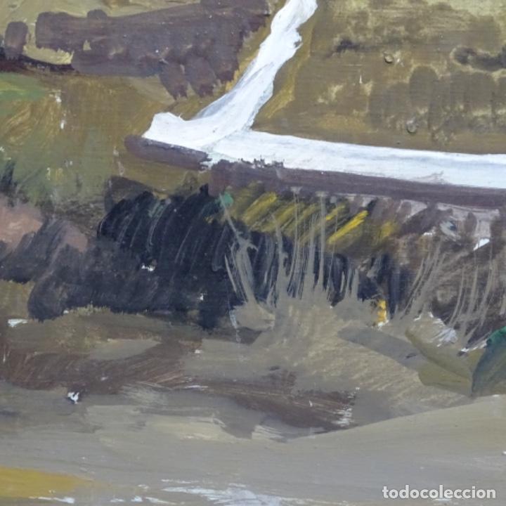 Arte: óleo sobre tabla de Ramon marti cebollero.excelente trazo. - Foto 5 - 200073215