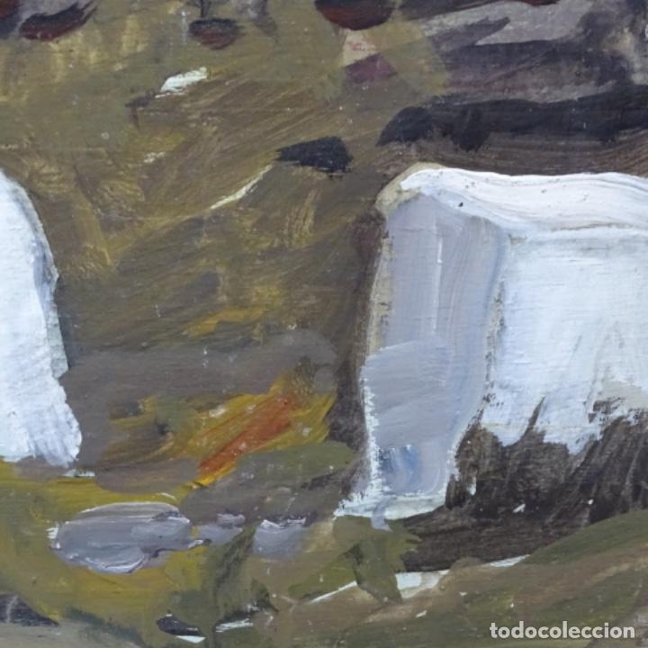 Arte: óleo sobre tabla de Ramon marti cebollero.excelente trazo. - Foto 8 - 200073215