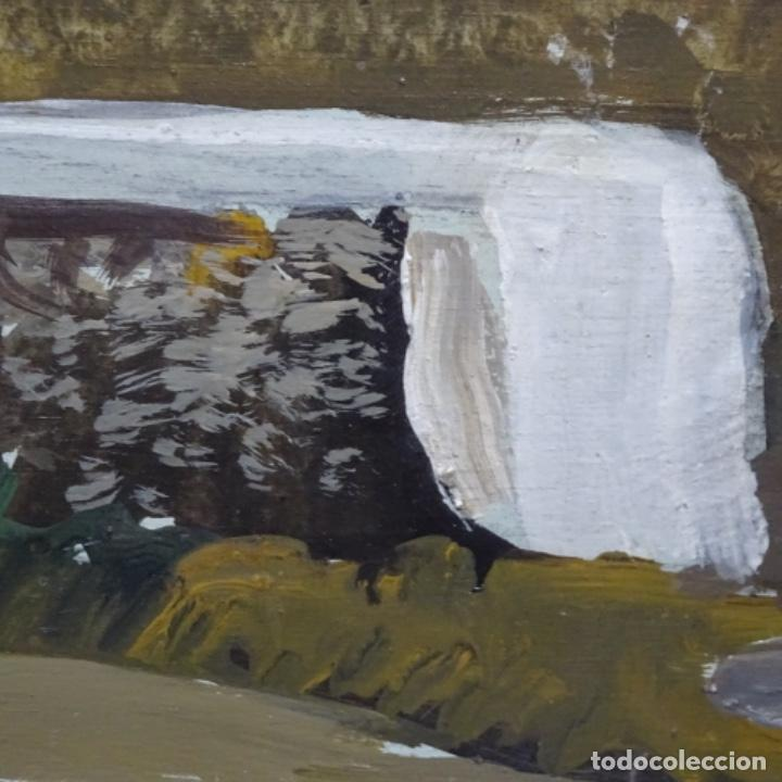 Arte: óleo sobre tabla de Ramon marti cebollero.excelente trazo. - Foto 9 - 200073215