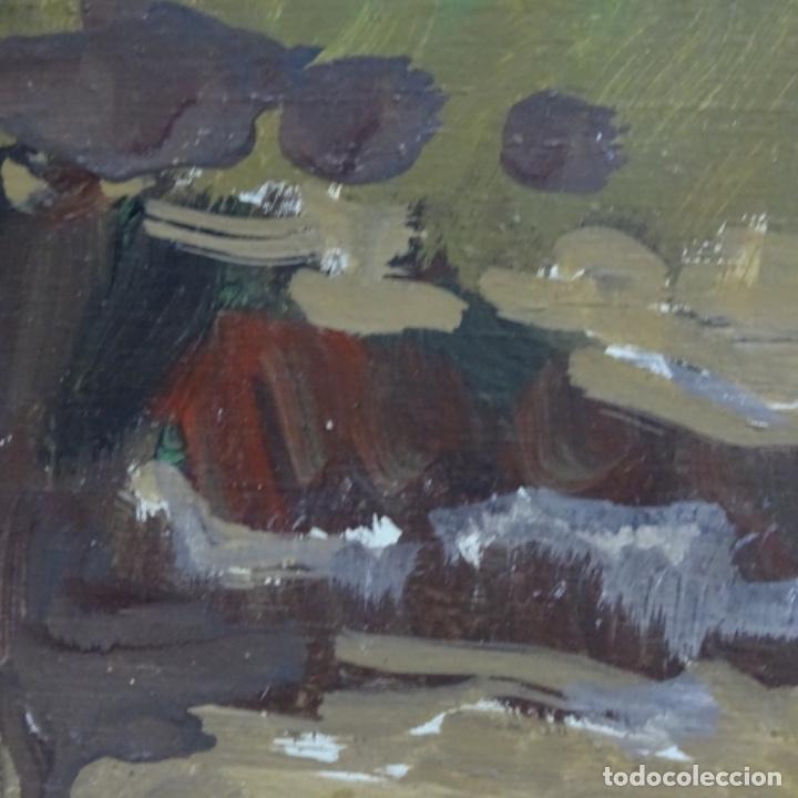 Arte: óleo sobre tabla de Ramon marti cebollero.excelente trazo. - Foto 10 - 200073215