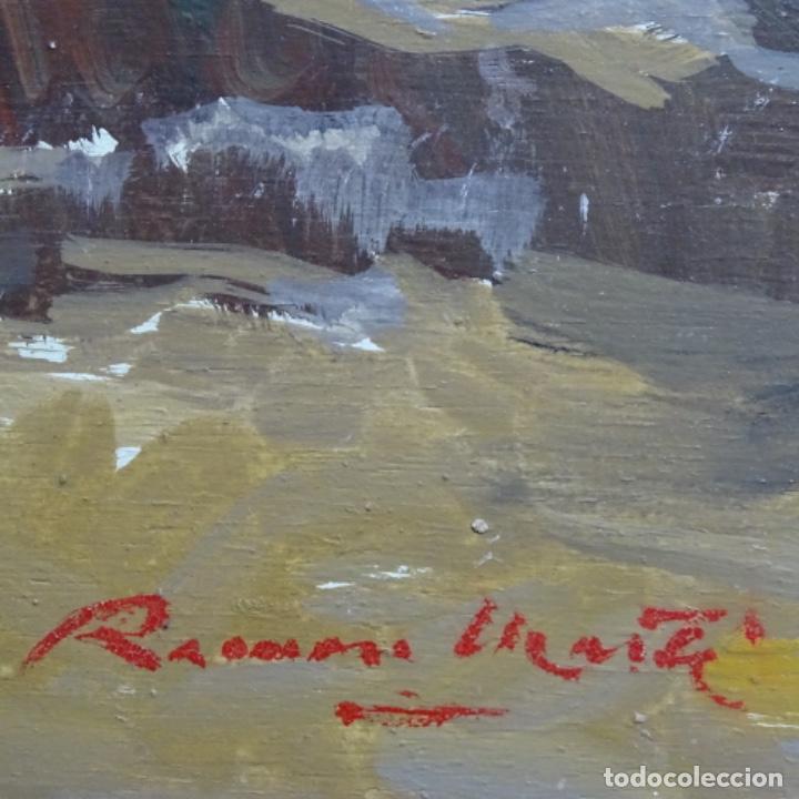 Arte: óleo sobre tabla de Ramon marti cebollero.excelente trazo. - Foto 11 - 200073215