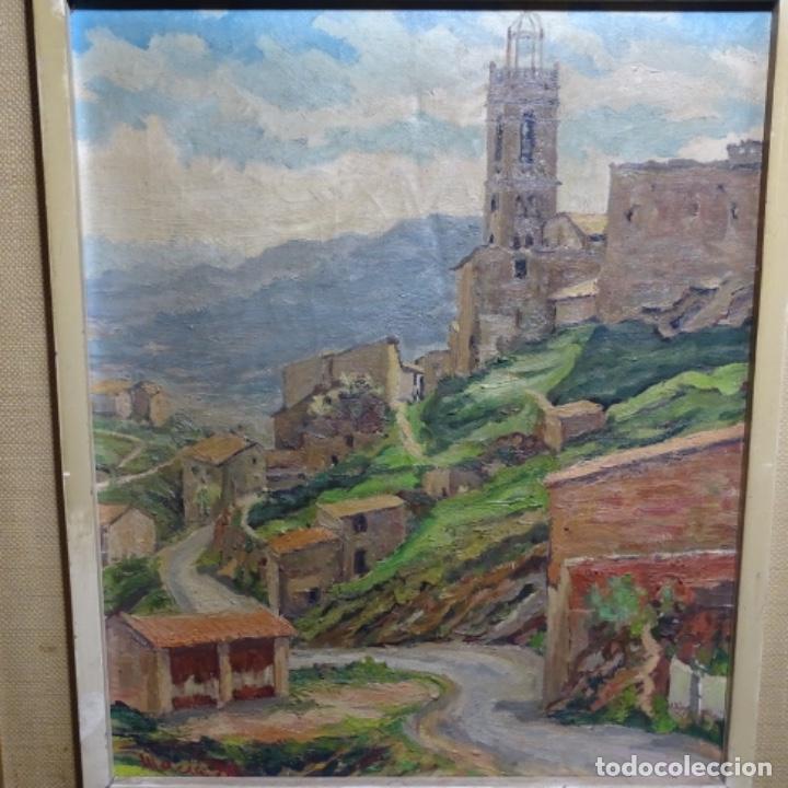 ÓLEO SOBRE TELA.FRANCESC MACIA I GRAUS.PAISAJE DE SURIA.1978. (Arte - Pintura - Pintura al Óleo Contemporánea )