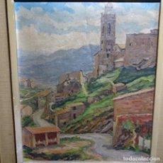 Arte: ÓLEO SOBRE TELA.FRANCESC MACIA I GRAUS.PAISAJE DE SURIA.1978.. Lote 200074268