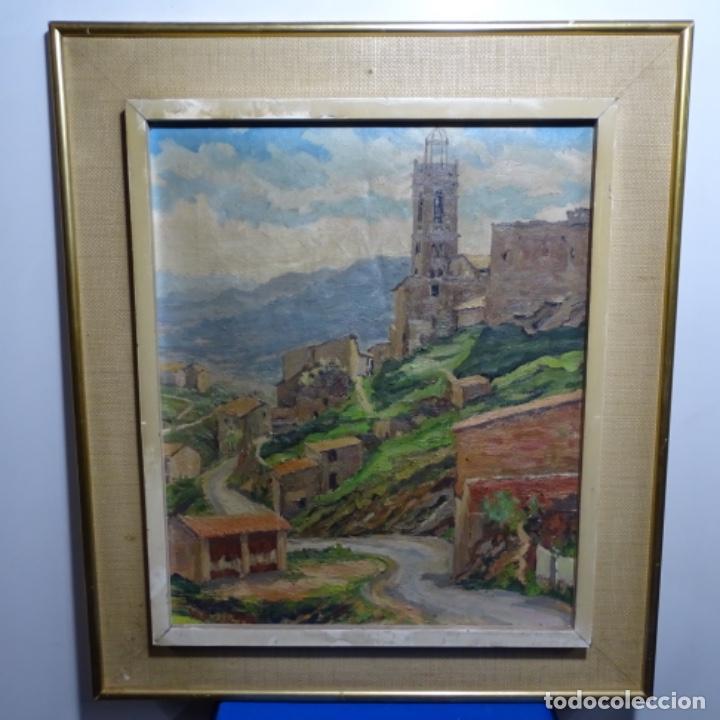 Arte: Óleo sobre tela.francesc macia i graus.paisaje de Suria.1978. - Foto 2 - 200074268