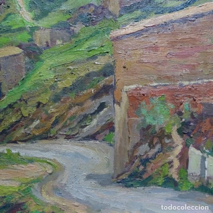 Arte: Óleo sobre tela.francesc macia i graus.paisaje de Suria.1978. - Foto 6 - 200074268