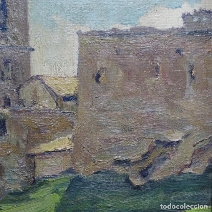 Arte: Óleo sobre tela.francesc macia i graus.paisaje de Suria.1978. - Foto 8 - 200074268
