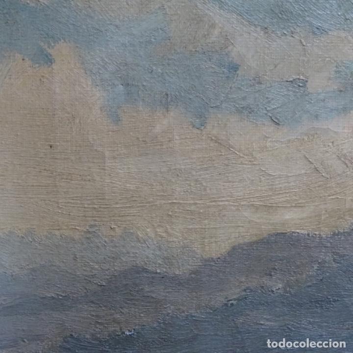 Arte: Óleo sobre tela.francesc macia i graus.paisaje de Suria.1978. - Foto 10 - 200074268