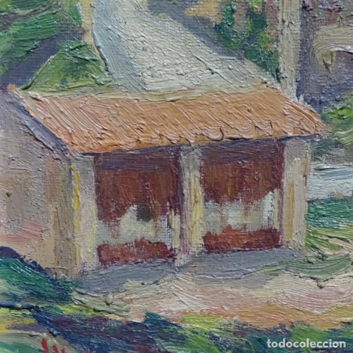 Arte: Óleo sobre tela.francesc macia i graus.paisaje de Suria.1978. - Foto 13 - 200074268