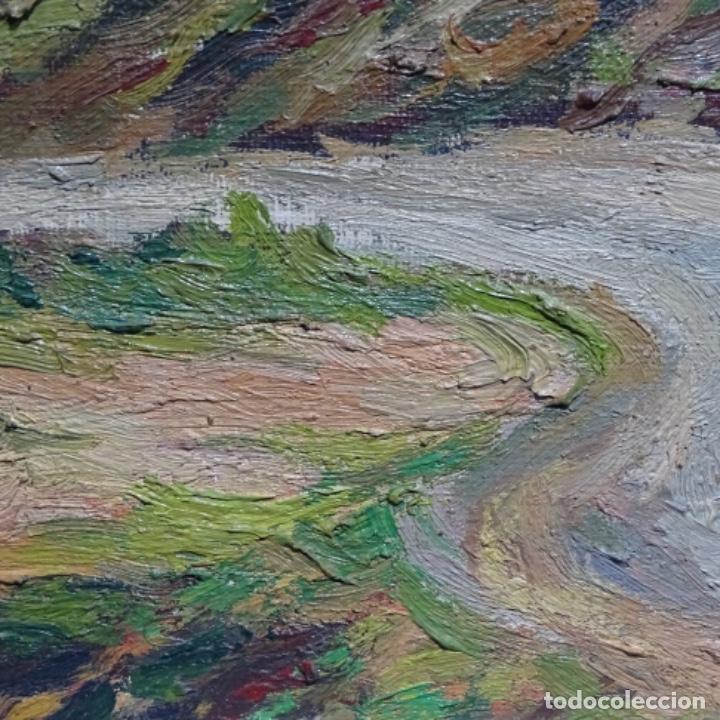Arte: Óleo sobre tela.francesc macia i graus.paisaje de Suria.1978. - Foto 15 - 200074268