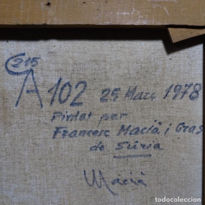 Arte: Óleo sobre tela.francesc macia i graus.paisaje de Suria.1978. - Foto 20 - 200074268