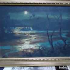 Arte: ÓLEO DE FERNÁNDEZ SÁNCHEZ 1953 DEDICADO MIDE 41X31 CM. CON MARCO TIENE UNA DEDICATORIA EN LA TRASE. Lote 200140427