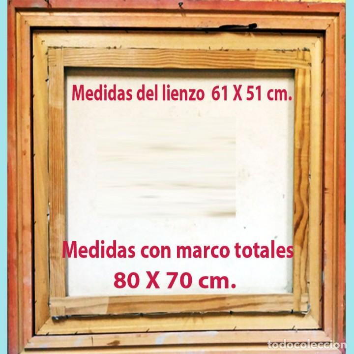 Arte: ROBIRO. - FLORERO CON FLORES -. OLEO SOBRE LIENZO DE LINEA REALISTA. FIRMADO. 61 X 51 cm. ENMARCADO. - Foto 4 - 200271676