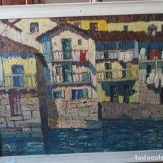Arte: FERMIN OA MIGUEL( SAN SEBASTIAN 1895-?) CASAS OLEO SOBRE LIENZO. Lote 200284441