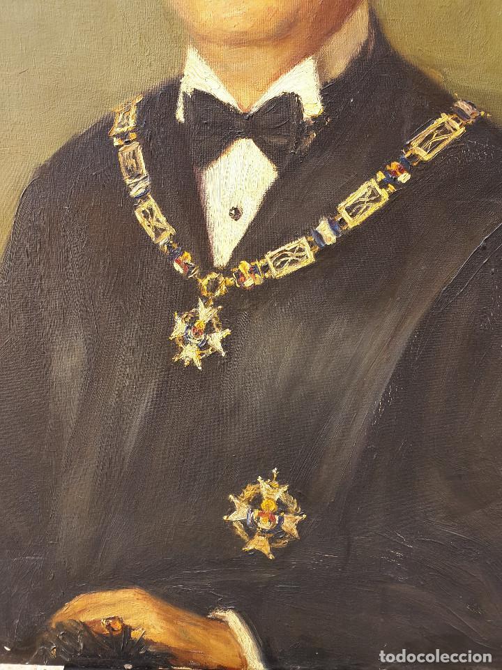 Arte: Retrato jurídico. Óleo sobre lienzo. Siglo XIX. Buen estado de conservación. - Foto 4 - 200337452