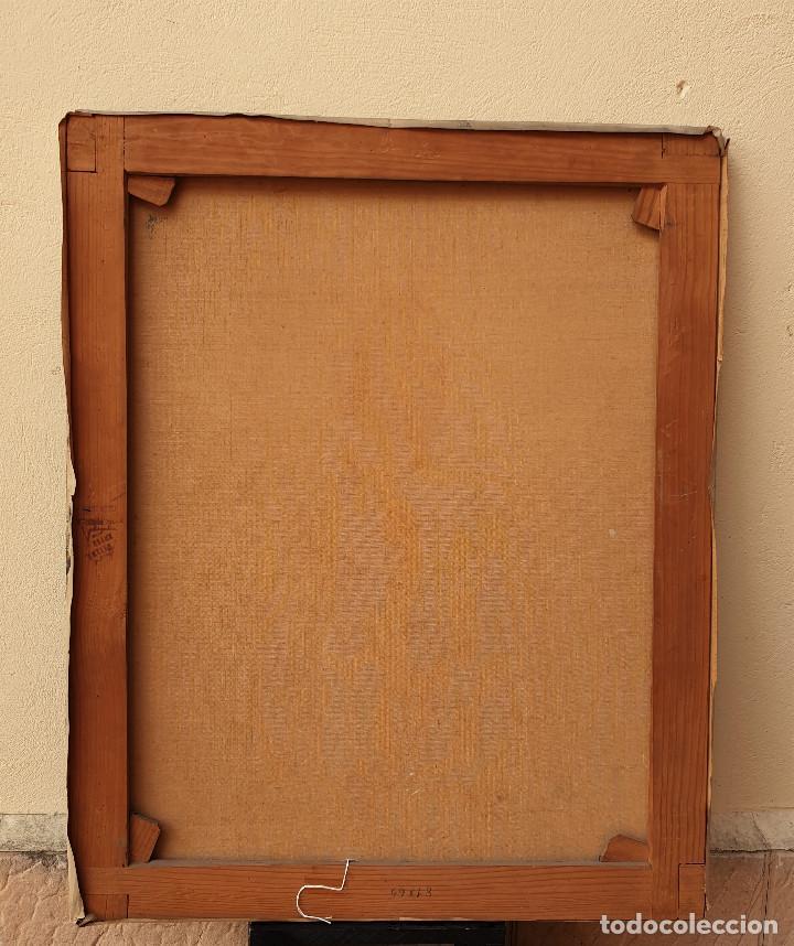 Arte: Retrato jurídico. Óleo sobre lienzo. Siglo XIX. Buen estado de conservación. - Foto 5 - 200337452