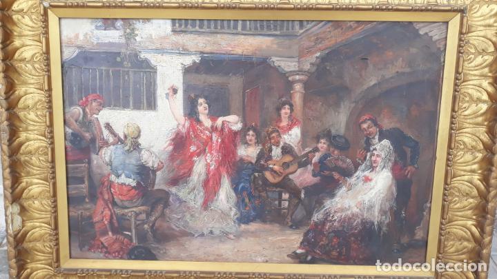 Arte: magnifico oleo sobre lienzo,francisco moles siglo xix-xx, pintor andaluz,buen tamaño - Foto 2 - 200394402
