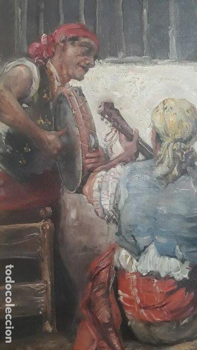 Arte: magnifico oleo sobre lienzo,francisco moles siglo xix-xx, pintor andaluz,buen tamaño - Foto 4 - 200394402