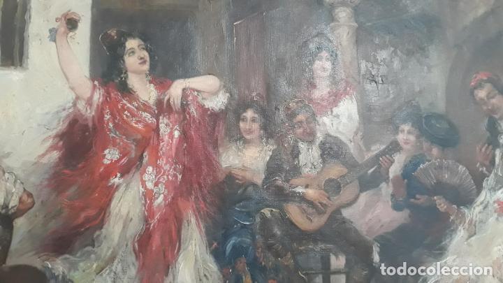 Arte: magnifico oleo sobre lienzo,francisco moles siglo xix-xx, pintor andaluz,buen tamaño - Foto 5 - 200394402