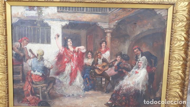 Arte: magnifico oleo sobre lienzo,francisco moles siglo xix-xx, pintor andaluz,buen tamaño - Foto 7 - 200394402