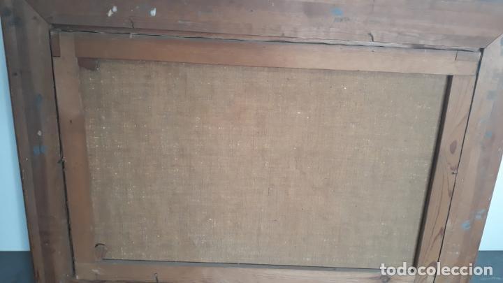 Arte: magnifico oleo sobre lienzo,francisco moles siglo xix-xx, pintor andaluz,buen tamaño - Foto 8 - 200394402