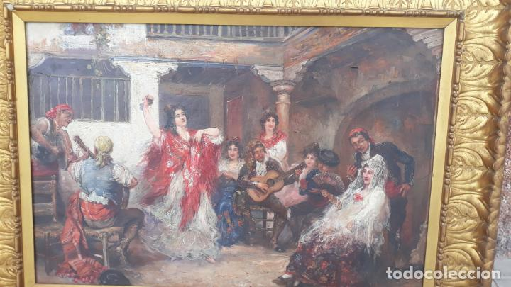 Arte: magnifico oleo sobre lienzo,francisco moles siglo xix-xx, pintor andaluz,buen tamaño - Foto 11 - 200394402