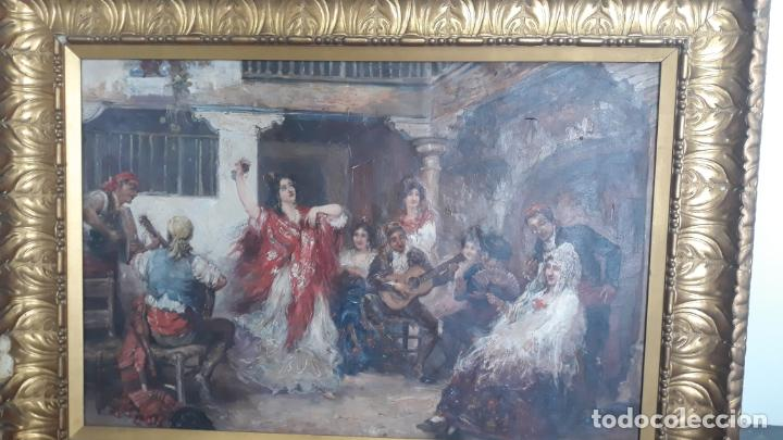Arte: magnifico oleo sobre lienzo,francisco moles siglo xix-xx, pintor andaluz,buen tamaño - Foto 12 - 200394402