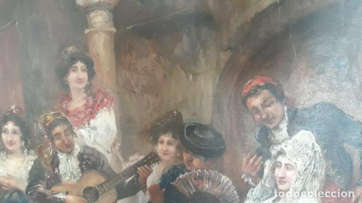 Arte: magnifico oleo sobre lienzo,francisco moles siglo xix-xx, pintor andaluz,buen tamaño - Foto 13 - 200394402