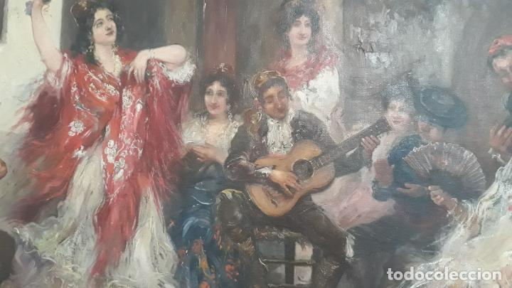 Arte: magnifico oleo sobre lienzo,francisco moles siglo xix-xx, pintor andaluz,buen tamaño - Foto 14 - 200394402