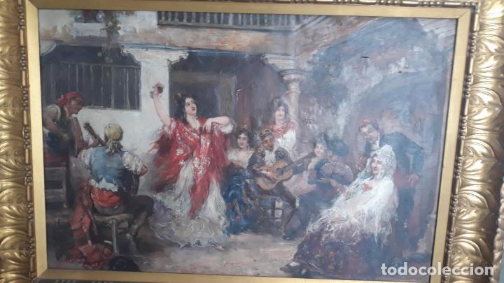 Arte: magnifico oleo sobre lienzo,francisco moles siglo xix-xx, pintor andaluz,buen tamaño - Foto 15 - 200394402
