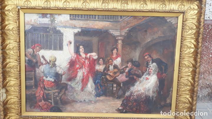 Arte: magnifico oleo sobre lienzo,francisco moles siglo xix-xx, pintor andaluz,buen tamaño - Foto 16 - 200394402