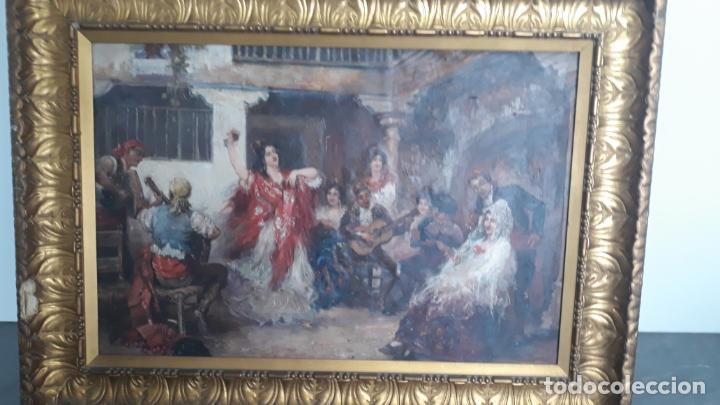 Arte: magnifico oleo sobre lienzo,francisco moles siglo xix-xx, pintor andaluz,buen tamaño - Foto 17 - 200394402