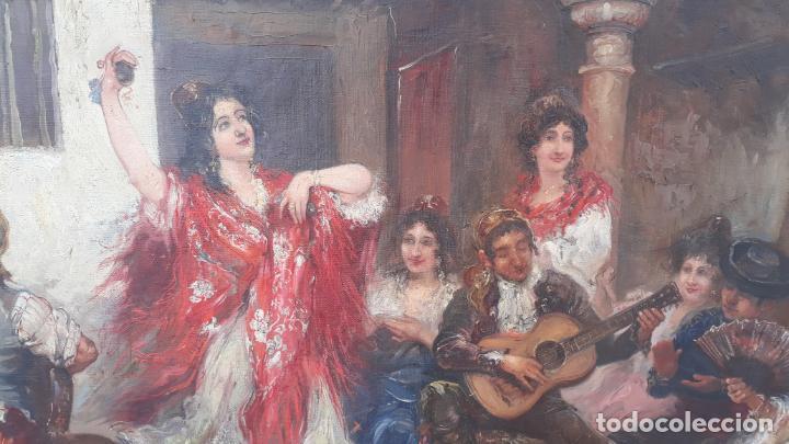 Arte: magnifico oleo sobre lienzo,francisco moles siglo xix-xx, pintor andaluz,buen tamaño - Foto 19 - 200394402